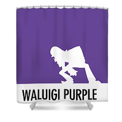 No42 My Minimal Color Code Poster Waluigi Shower Curtain