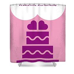 No437 My Wedding Crashers Minimal Movie Poster Shower Curtain