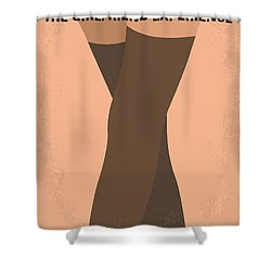No438 My The Girlfriend Experience Minimal Movie Poster Shower Curtain