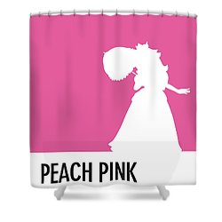 No44 My Minimal Color Code Poster Peach Shower Curtain