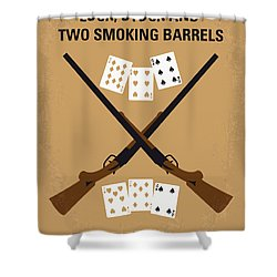 No441 My Lock Stock And Two Smoking Barrels Minimal Movie Poster Shower Curtain