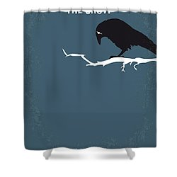 No488 My The Crow Minimal Movie Poster Shower Curtain