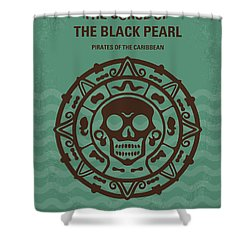No494-1 My Pirates Of The Caribbean I Minimal Movie Poster Shower Curtain by Chungkong Art