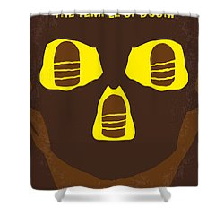 No517 My The Temple Of Doom Minimal Movie Poster Shower Curtain