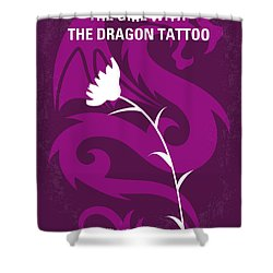 No528 My The Girl With The Dragon Tattoo Minimal Movie Poster Shower Curtain