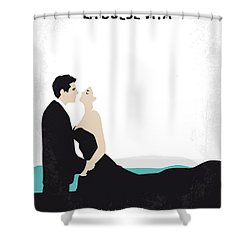 No529 My La Dolce Vita Minimal Movie Poster Shower Curtain