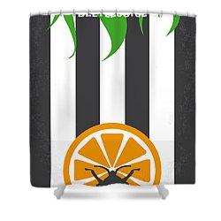 No531 My Beetlejuice Minimal Movie Poster Shower Curtain