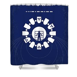 No532 My Interstellar Minimal Movie Poster Shower Curtain