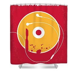 No547 My Burn After Reading Minimal Movie Poster Shower Curtain
