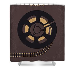 No578 My Super 8 Minimal Movie Poster Shower Curtain