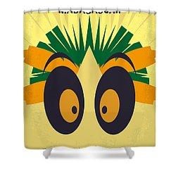 No589 My Madagascar Minimal Movie Poster Shower Curtain