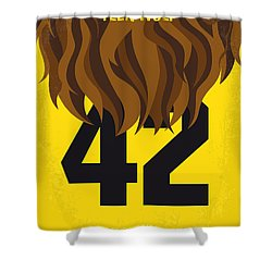 No607 My Teen Wolf Minimal Movie Poster Shower Curtain