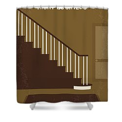 No615 My Risky Business Minimal Movie Poster Shower Curtain by Chungkong Art