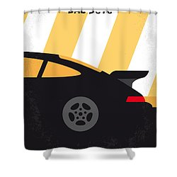 No627 My Bad Boys Minimal Movie Poster Shower Curtain by Chungkong Art