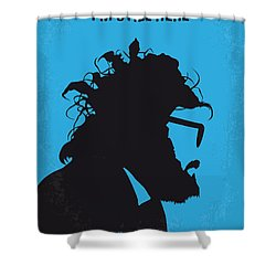 No637 My I Am Still Here Minimal Movie Poster Shower Curtain by Chungkong Art