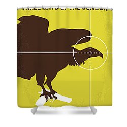 No659 My Three Days Of The Condor Minimal Movie Poster Shower Curtain