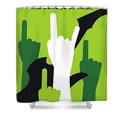 No668 My The School Of Rock Minimal Movie Poster Shower Curtain