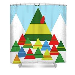 No699 My Elf Minimal Movie Poster Shower Curtain