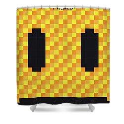 No703 My Pixels Minimal Movie Poster Shower Curtain