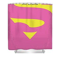 No720 My Supergirl Minimal Movie Poster Shower Curtain