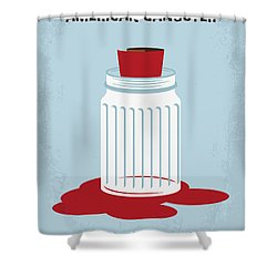 Shower Curtain featuring the digital art No748 My American Gangster Minimal Movie Poster by Chungkong Art