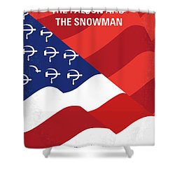 Shower Curtain featuring the digital art No749 My The Falcon And The Snowman Minimal Movie Poster by Chungkong Art