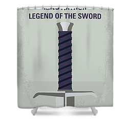 Shower Curtain featuring the digital art No751 My King Arthur Legend Of The Sword Minimal Movie Poster by Chungkong Art