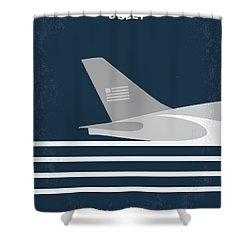 Shower Curtain featuring the digital art No754 My Sully Minimal Movie Poster by Chungkong Art