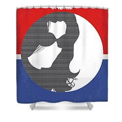 Shower Curtain featuring the digital art No755 My Jackie Minimal Movie Poster by Chungkong Art