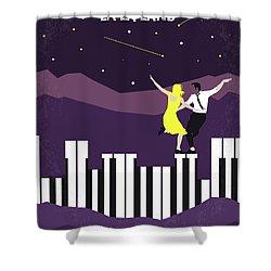 Shower Curtain featuring the digital art No756 My La La Land Minimal Movie Poster by Chungkong Art