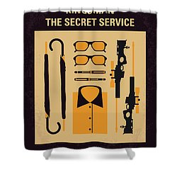 Shower Curtain featuring the digital art No758 My Kingsman Minimal Movie Poster by Chungkong Art