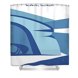 Shower Curtain featuring the digital art No767 My Snowpiercer Minimal Movie Poster by Chungkong Art