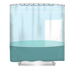 Shower Curtain featuring the digital art No769 My Erin Brockovich Minimal Movie Poster by Chungkong Art