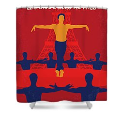 Shower Curtain featuring the digital art No771 My Les Uns Et Les Autres Minimal Movie Poster by Chungkong Art
