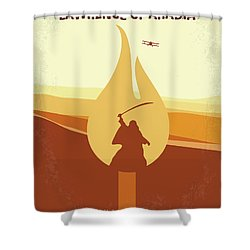 Shower Curtain featuring the digital art No772 My Lawrence Of Arabia Minimal Movie Poster by Chungkong Art