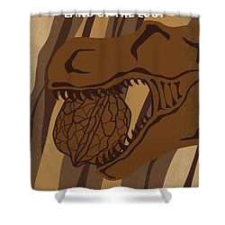 Shower Curtain featuring the digital art No773 My Land Of The Lost Minimal Movie Poster by Chungkong Art