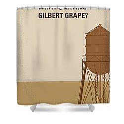 No795 My Whats Eating Gilbert Grape Minimal Movie Poster Shower Curtain