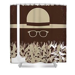 No830 My Secret Window Minimal Movie Poster Shower Curtain