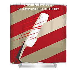 No849 My Sweeney Todd Minimal Movie Poster Shower Curtain
