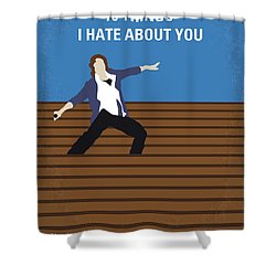 No850 My 10 Things I Hate About You Minimal Movie Poster Shower Curtain