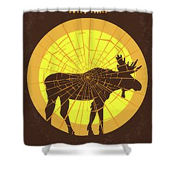 No859 My Why Him Minimal Movie Poster Shower Curtain