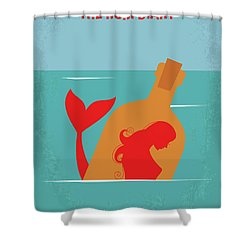 No925 My The Rum Diary Minimal Movie Poster Shower Curtain