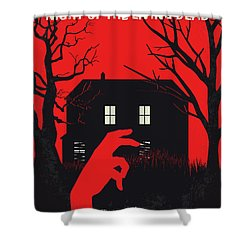 No935 My Night Of The Living Dead Minimal Movie Poster Shower Curtain