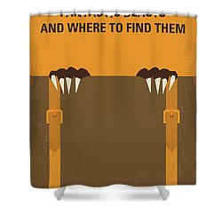 No962 My Fantastic Beasts And Where To Find Them Minimal Movie Poster Shower Curtain