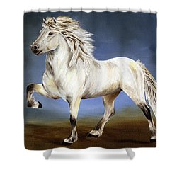 Nobility  Icelandic Horse Shower Curtain