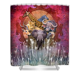 Noble Creatures Shower Curtain
