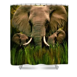 Noble Ones Shower Curtain by Lourry Legarde