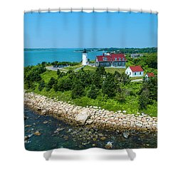 Nobska Lighthouse Shower Curtain