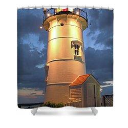 Nobska Point Lighthouse Shower Curtain by Roupen  Baker