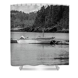 Shower Curtain featuring the photograph Noca Scotia In Black And White  by Trace Kittrell